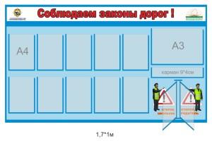Стенд ПДД, для детского сада. Образец ДПС (адаптированный вариант)