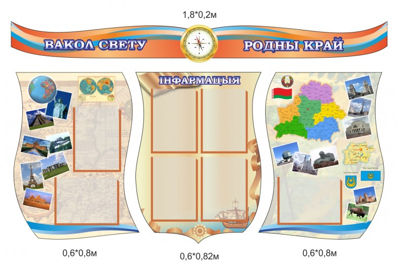 Стенд по географии с картинками для школы