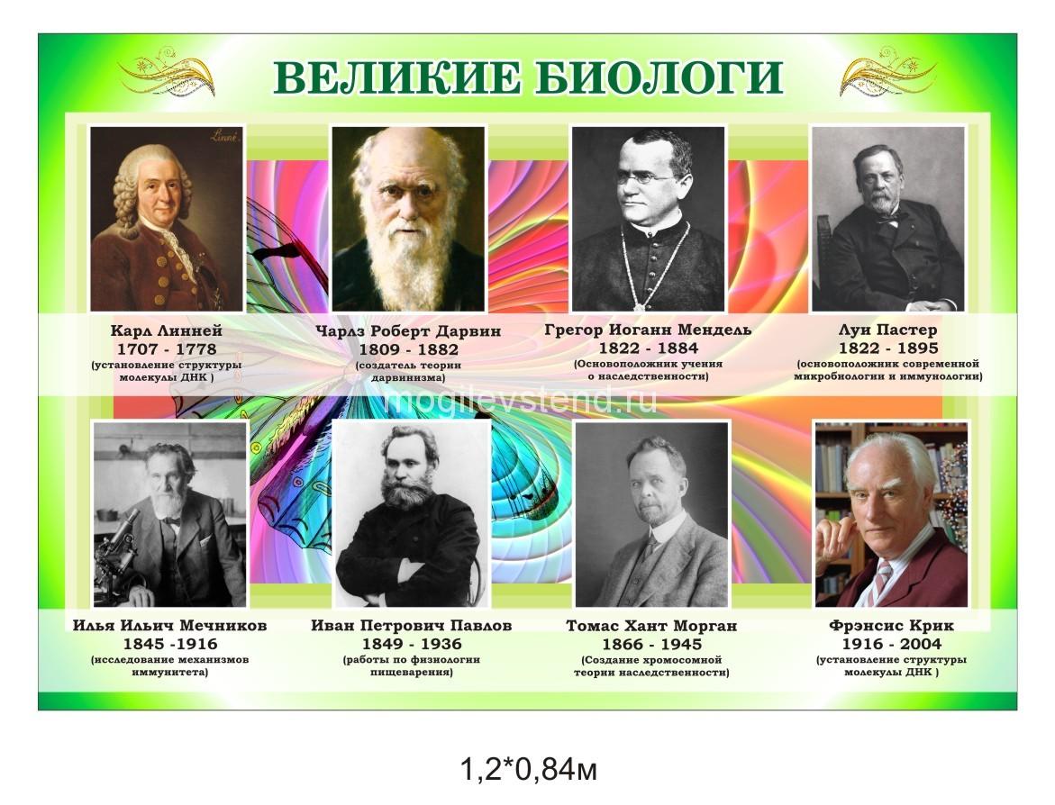 Картинки ученых по биологии